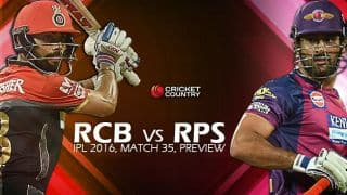 Royal Challengers Bangalore vs Rising Pune Supergiants, IPL 2016, Match 35 at Bangalore: Preview