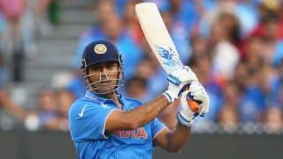 MS Dhoni's ICC Cricket World Cup 2011 winning bat on display in Delhi