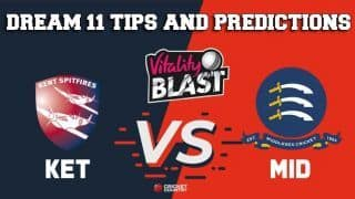Dream11 Team Kent vs Middlesex South Group VITALITY T20 BLAST ENGLISH T20 BLAST – Cricket Prediction Tips For Today's T20 Match KET vs MID at Lord's, London