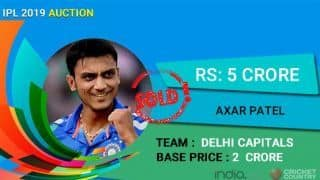 IPL Auction 2019: Delhi Capitals fork out Rs 5 crore for Axar Patel