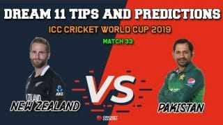 NZ vs PAK Dream11 Prediction, Cricket World Cup 2019, Match 33: Best Playing XI Players to Pick for Today's Match between New Zealand and Pakistan at 3 PM