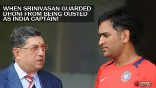 N Srinivasan didn't allow MS Dhoni to be sacked as India captain, says former selector Raja Venkat