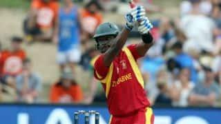 Chamu Chibhabha, Hamilton Masakadza, Craig Ervine dismissed against Pakistan in 2nd T20I at Harare