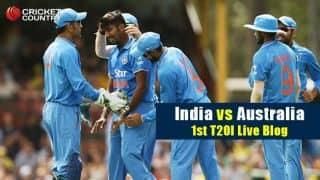 Australia 151 in Ovs 19.3 | Live Cricket Score, India vs Australia 2015-16, 1st T20I at Adelaide: India win by 37 runs
