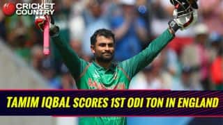 ICC CT 2017: Tamim scores 9th ODI century, during match 1 vs ENG