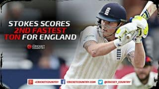 Ben Stokes scores 2nd fastest century for England during Day Four, 1st Test against New Zealand