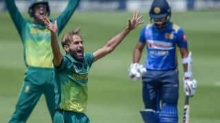 1st ODI: Imran Tahir scalps 3 as South Africa bowl out Sri Lanka for 231