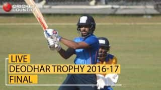 Live Cricket Score, India B vs Tamil Nadu, Deodhar Trophy final at Visakhapatnam
