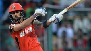 Virat Kohli dismissed for duck by Dhawal Kulkarni against GL in IPL 2016 Playoffs