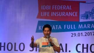 Sachin Tendulkar star attraction during second Kolkata Marathon