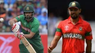 Injured Mashrafe Mortaza ruled out of Sri Lanka series, Tamim Iqbal named Bangladesh skipper