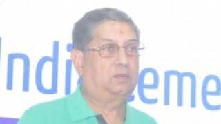 N Srinivasan attends BCCI SGM