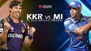 Kolkata Knight Riders vs Mumbai Indians, IPL 2016, Match 5 at Kolkata, Preview: Mumbai Indians eager to get back on winning track