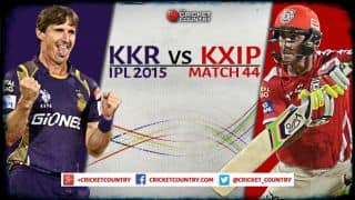 Live Cricket Score Kolkata Knight Riders vs Kings XI Punjab, IPL 2015 Match 44: KKR win by 1 wicket