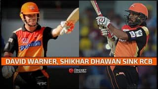 Sunrisers Hyderabad register comfortable eight-wicket win vs Royal Challengers Bangalore in Match 8 of IPL 2015