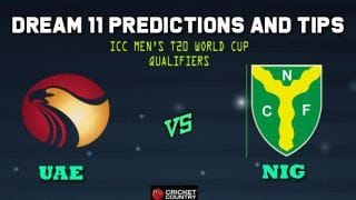 Dream11 Team UAE vs Nigeria ICC Men's T20 World Cup Qualifiers – Cricket Prediction Tips For Today's T20 Match 28 Group B UAE vs NIG at Abu Dhabi