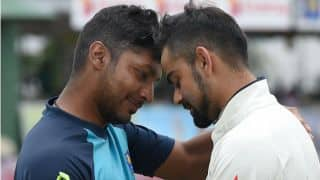 PHOTO: Kumar Sangakkara, Virat Kohli share a light moment