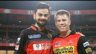 Kohli, Warner exchange texts regarding Orange Cap