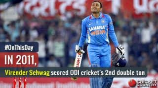 Video: Virender Sehwag becomes second man to score double hundred in ODIs