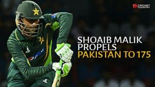 Ahmed Shehzad, Shoaib Malik, Umar Akmal help Pakistan set target of 176 against Sri Lanka