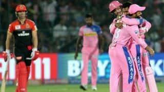 IPL 2019: Shreyas Gopal bags second hat-trick of season, Bangalore sets runs target for Rajasthan