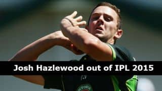 IPL 2015: Hazlewood opts out of MI due to gruelling international schedule