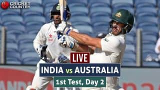 LIVE Cricket Score India vs Australia 2016-17, 1st Test, Day 2