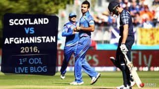 AFG 283/4 in 47.2 Ovs, Live Cricket Score, SCO vs AFG 2016, 1st ODI at Edinburg: Match abandoned