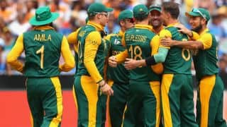 Pakistan vs South Africa in ICC Cricket World Cup 2015: Sarfraz Ahmed falls after quickfire 49