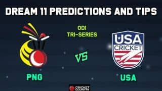 PNG vs USA Dream11 Team Papua New Guinea vs USA, Match 3, Tri-Nations ODI – Cricket Prediction Tips For Today's Match PNG vs USA at Florida