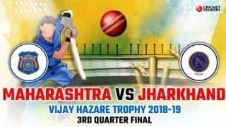 Vijay Hazare Trophy 2018-19: Jharkhand seal semi-final berth with eight-wicket win over Maharashtra