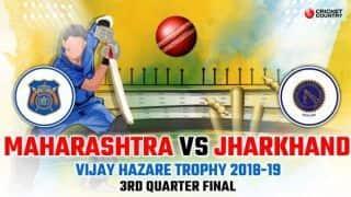 Vijay Hazare Trophy 2018-19: Jharkhand seal semi-final berth with 8-wicket win (VJD) over Maharashtra
