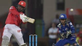 IPL 2018: Chris Gayle, Marcus Stoinis help KXIP to 174 against MI at Indore