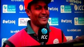 Video: Oman cricket captain Sultan Ahmed dedicates World T20 2016 qualification to his mother who died a week ago