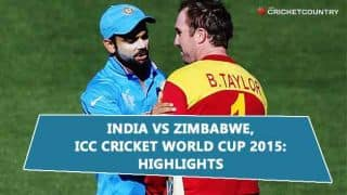 India vs Zimbabwe Full Video Highlights: ICC Cricket World Cup 2015 match Highlights