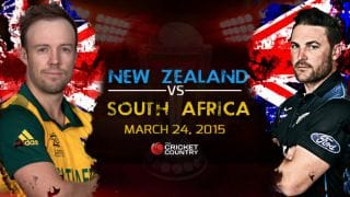 Live Cricket Score New Zealand vs South Africa ICC Cricket World Cup 2015 Semi-Final: New Zealand win by 4 wickets, qualify for final