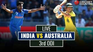 Live Cricket Score, India vs Australia, 3rd ODI: AUS going strong