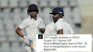 Swapnil Gugale, Ankit Bawne record 2nd highest First-Class stand in Ranji Trophy 2016-17: Twitter Reactions