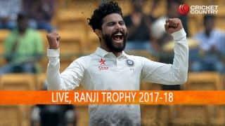 Live Cricket Score, Ranji Trophy 2017-18, Round II, Day 2
