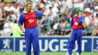 Video: Shane Warne mimics Merv Hughes, bowls medium pace