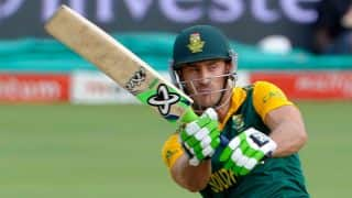 Faf du Plessis completes fifty during 3rd India vs South Africa ODI at Rajkot