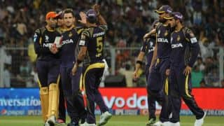 KKR players join hands to spoof 'Happy'