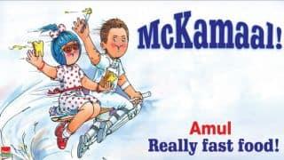 Amul celebrates Brendon McCullum's fastest Test century