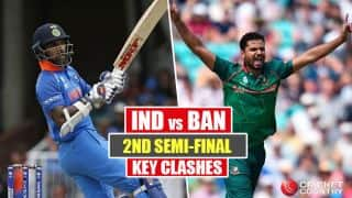 India vs Bangladesh, ICC Champions Trophy 2017, Semi-final 2: Tamim Iqbal vs Bhuvneshwar Kumar and other key battles