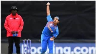 Shikha Pandey becomes most runs conceded by a player in a Women's T20 World Cup match