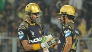 Kolkata Knight Riders reach 82 for no loss after 10 overs vs Lahore Lions