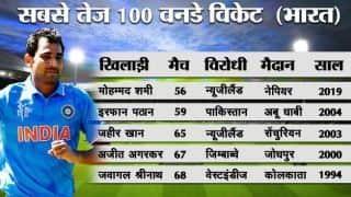 मोहम्मद शमी बने वनडे में सबसे तेज 100 विकेट हासिल करने वाले भारतीय
