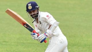 Rahane dismissed for 40 by Santner in 500th Test vs NZ