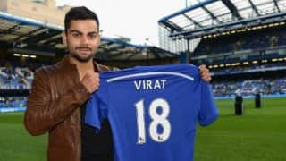 Virat Kohli visits Chelsea FC's football ground