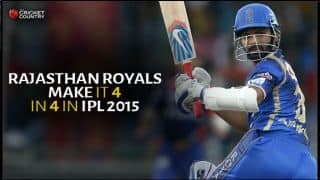 Rajasthan Royals beat Sunrisers Hyderabad by 6 wickets; register 4th consecutive win in IPL 2015